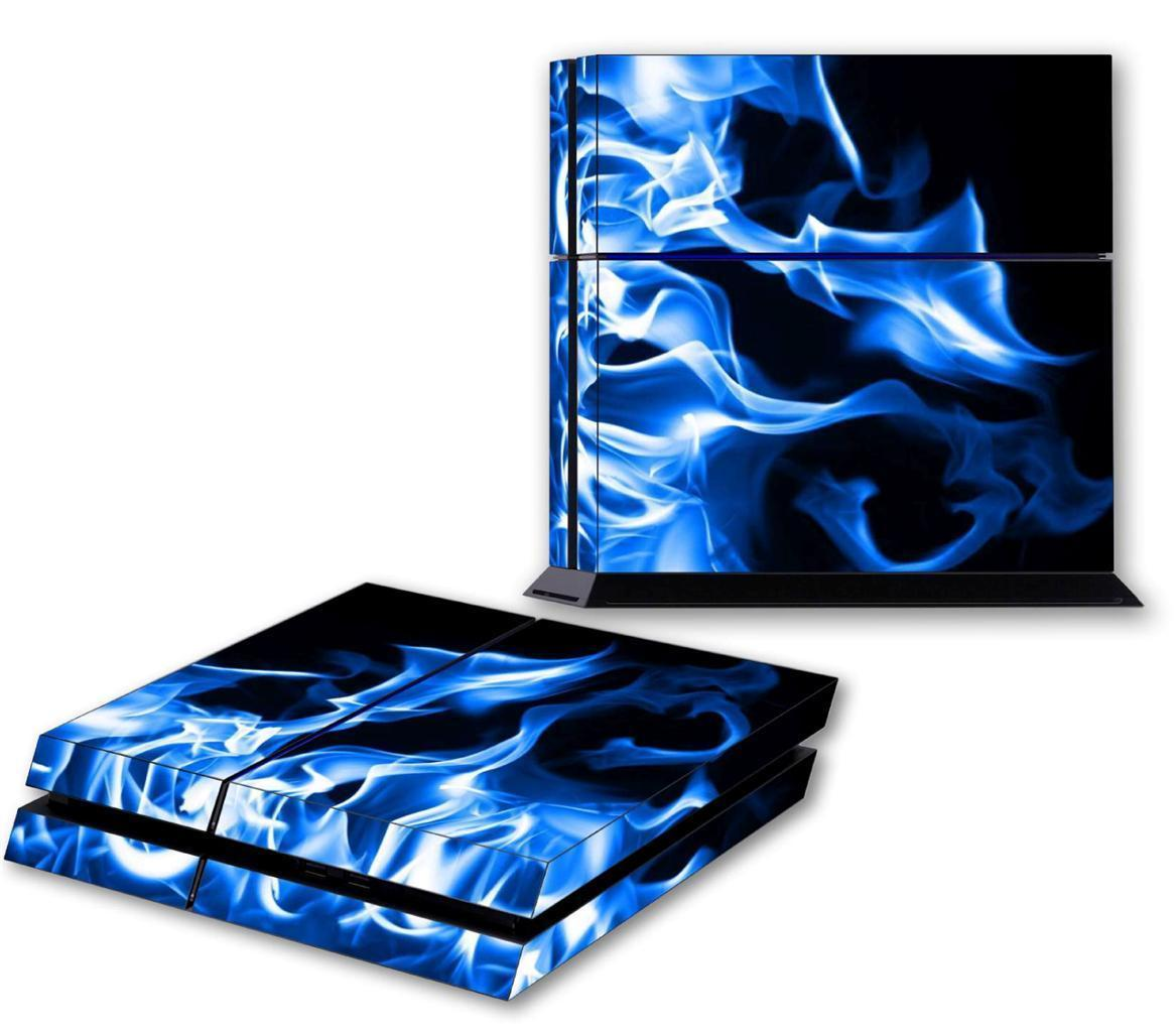 BLUE FIRE PS4 Skin Vinyl Decal For PlayStation 4 Console Designer Sticker 149 for sale  USA