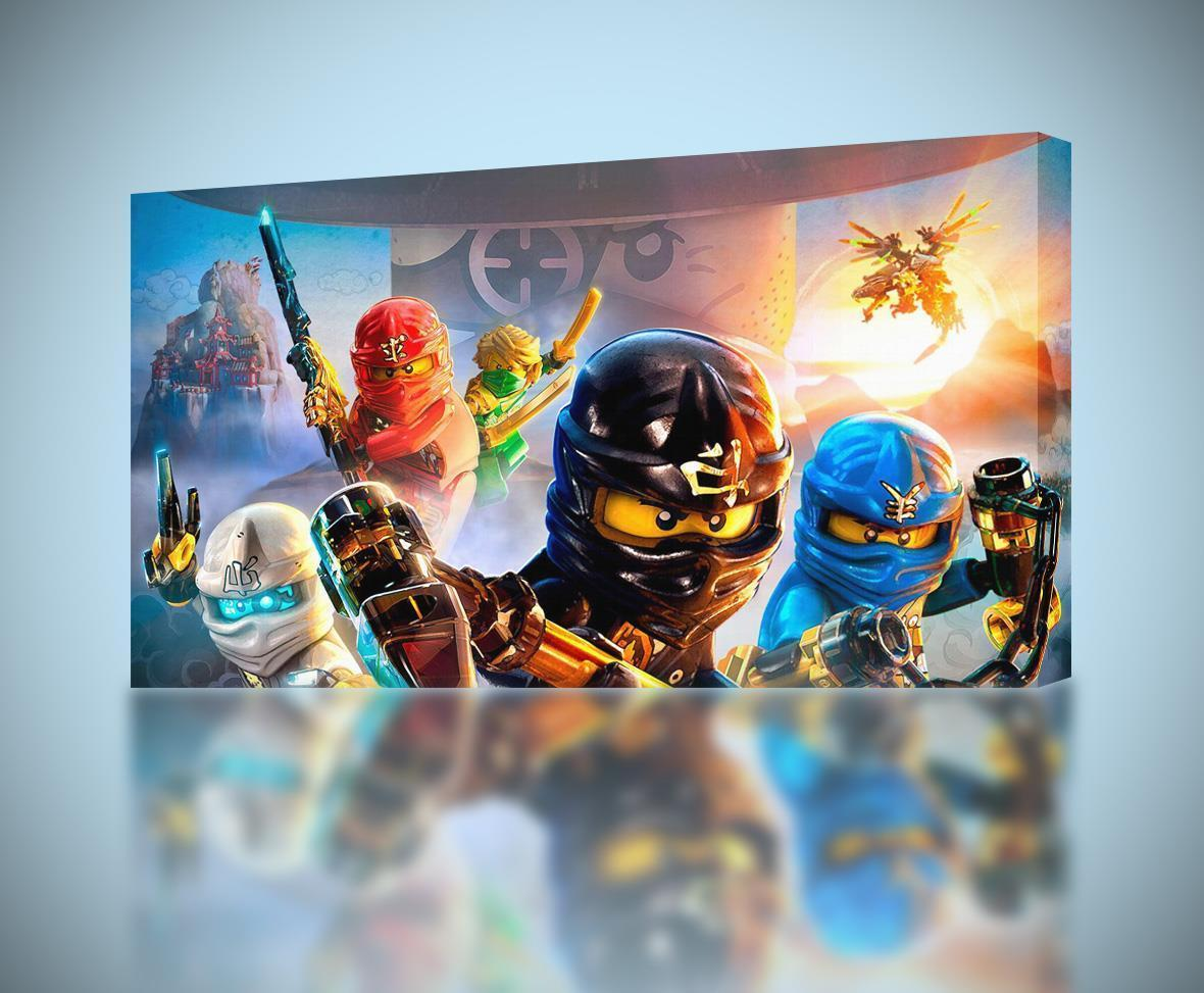 NINJAGO Lego CANVAS PRINT Wall Art Home Decor Giclee *4 Sizes* CA96    $14.99   $39.99