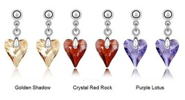 Hypoallergenic Heart Crystal Stone Medical Stainless Steel Fashion Earrings Gift - $8.48