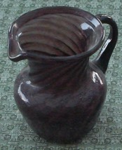 Miniature Amethyst Stretch Glass Individual Cream Pitcher, GREAT COLOR, VGC - $14.84