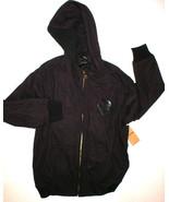 New Mens XL True Religion Jeans Dark Red Black Hoodie Jacket Logo NWT Zi... - $158.00
