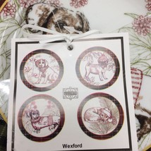 ~NEW~ 222 fifth Wexford Puppy Dogs Holidays Appetizer Dessert Plates Set 4 - $20.99