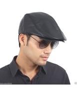 Men's Black Real Leather Fashion Newsboy Ivy Cabbie cap Gatsby Flat Golf... - $18.88
