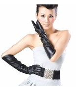 """50cm(19.5"""") Women's 100% Real Genuine Leather Evening Gloves Long Opera ... - $32.95+"""