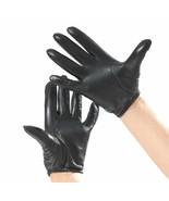 New Police Tactical Gloves 100% Genuine Sheepskin Black/Brown Driving Gl... - $19.88