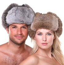 New Men's/Women's 100% Real Rabbit Fur Warm Hat/Russian Bombers Guard Ch... - $39.99