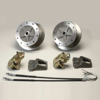 Rear 5 Lug Vw 205Mm Bolt Pattern Short Axle Disc Brake Kit With Emergency Brake  - $532.75