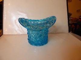 LOVELY Antique 1890s Large Aqua Blue Daisy & Button HAT Whimsy Sharp Edges - $34.65