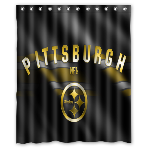 Pittsburgh Steelers Shower Curtain Waterproof Made From