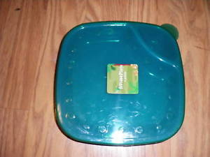 NEW HARD PLASTIC DIVIDED PLATE W LID TODDLER BLUE W Green & New Hard Plastic Divided Plate W Lid Toddler and 11 similar items