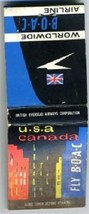 FLY BOAC Matchbook British Overseas Airways - $16.88