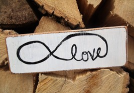 Infinity Love Wooden Sign....perfect gift for y... - $10.00