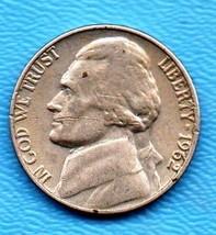 1962 Jefferson Nickel - Light Wear About AU55 - $0.05
