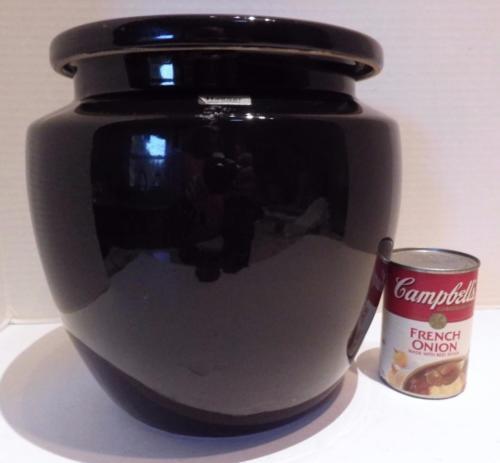 Royal Haeger Large Pot Ginger Jar Black Ceramic w Lid Original Stickers USA - $56.12