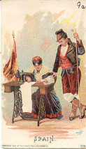 Singer Sewing Spain 1892 Victorian Trade Card - $7.00