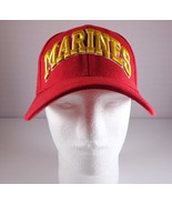 MARINES Mens USMC Red Hat Baseball Cap Adjustable Strap - $24.95