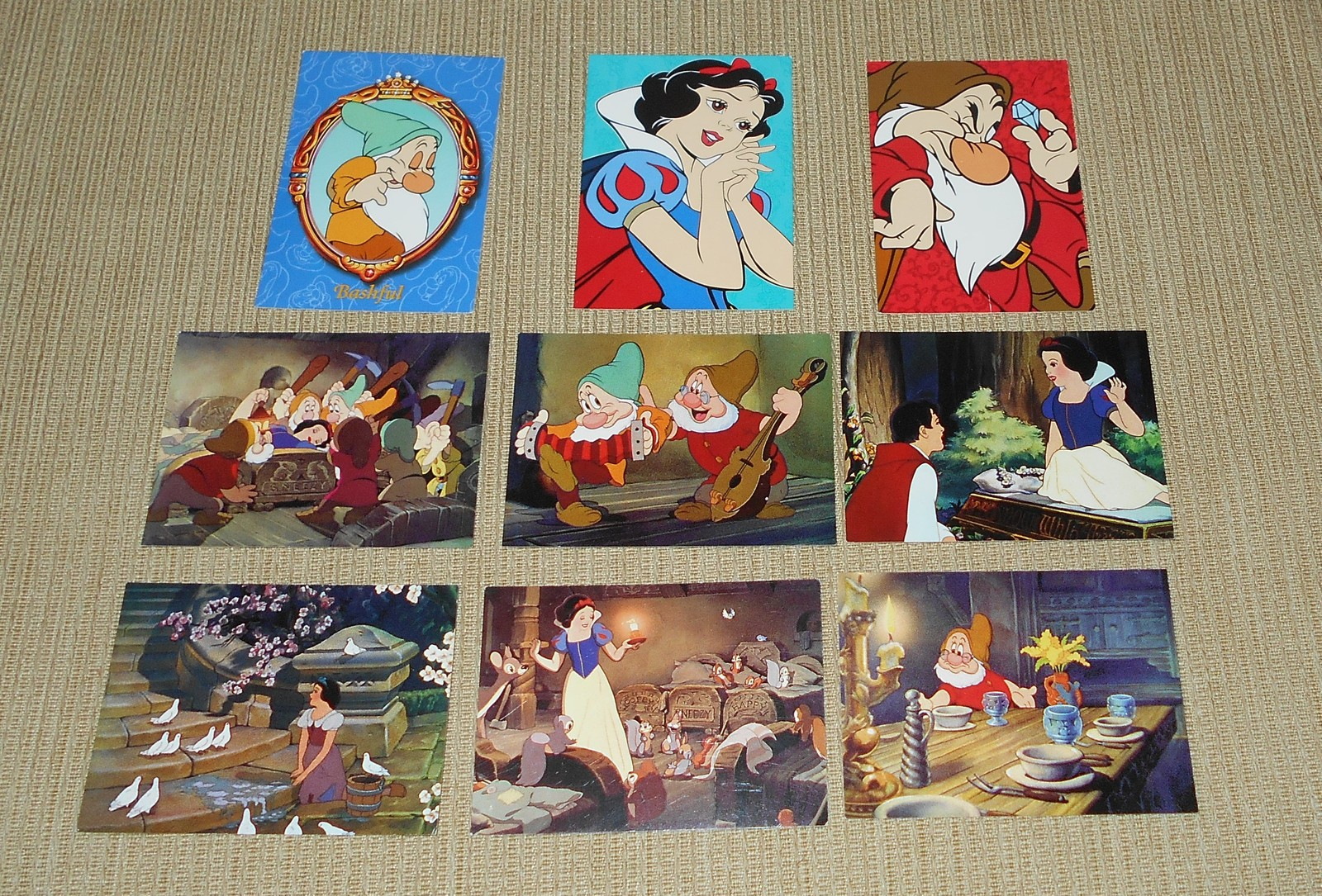 9 Skybox Disney Snow White Trading Cards - #2, 23, 29, 31, 41, 59, 72, 74, 78