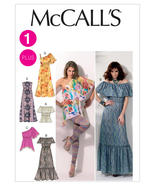 M6558 Misses' Peasant Tops and Dresses Sizes 8-16 McCall's Sewing Pattern - $5.89
