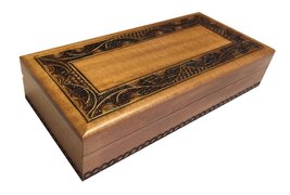 Polish Handmade Wooden Jewelry Box Linden Wood Keepsake Elegant Design - €24,29 EUR