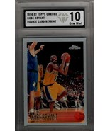 KOBE BRYANT 1996-97 Topps Chrome Rookie RC REPRINT #138 Encased GEM 10 - $24.70