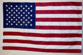 USA Embroidered Top quality 210D Oxford Poly Flag 3' X 5' Indoor Outdoor... - $29.95