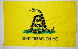 Gadsden Embroidered Top quality 210D Oxford Poly Flag 3' X 5' Indoor Out... - $29.95