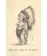 I Am Ready  artist Bernard Wall 1912 Post Card - $6.00