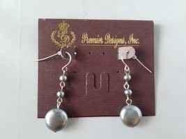 NWT Premier Designs Vintage Earrings Metallic Silver Bead Dangle Fashion... - $15.61