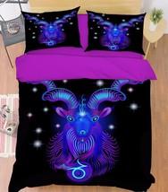 3D Capricorn 213 Bed Pillowcases Quilt Duvet Cover Set Single Queen King Size AU - $90.04+