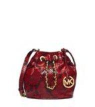 Michael Kors Frankie Embossed Python Leather Small Drawstring Crossbody Bag - $4.196,72 MXN