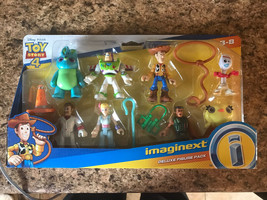 Toy Story 4 DELUXE FIGURE PACK Imaginext 8 adorable characters incl. Buz... - $19.80