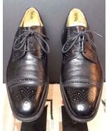 Johnston & Murphy Cellini Italy Black Cap-Toe Brogue Oxford Sz. 9M EXCEL... - $42.69