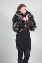 Silver Fox Fur Bolero/ Luxury gift/wedding,or anniversary present/ silver bolero image 3