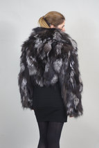 Silver Fox Fur Bolero/ Luxury gift/wedding,or anniversary present/ silver bolero image 4