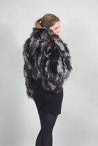 Silver Fox Fur Bolero/ Luxury gift/wedding,or anniversary present/ silver bolero image 5