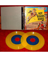Roy Rogers Rodeo Story Book Album 45s records RCA Nipper Series - $20.00