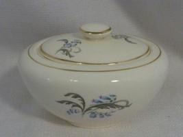 Vintage Knowles China Bluebells Floral Pattern Serving Sugar Bowl & Lid - $11.99