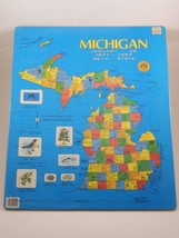 Puzzlin' State Michigan 26th State 1837-1987 Map Puzzle SEALED - $49.99
