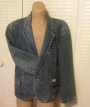 RARE Vtg Georges Marciano Guess Denim Jean Jacket Blazer 1980s Womens Me... - $43.00
