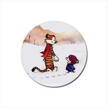 4x rubber drink Coasters calvin and Hobbes & co... - $10.00