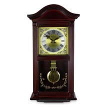 Bedford Clock Collection 22 Inch Wall Clock in Mahogany - $145.00
