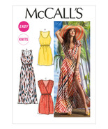 M6744 Misses' Dresses  Sizes 4-14 McCall's Sewing Pattern - Easy Knits - $5.89