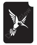 Humming Bird 1027 Body Art Glitter Tattoo Makeup Stencil- 5 Pack - $5.95