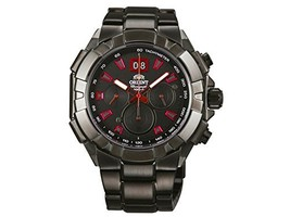 Orient Men's 47mm Black IP Steel Bracelet & Case Sapphire Crystal Quartz Anal... - $373.41