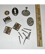 Assorted Mix Furniture Hardware-Knobs, Escutcheon, Hinges, Nails-Stanley... - $12.99