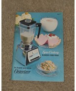 1966 Osterizer Spin Cookery BLENDER COOK BOOK  for Osterizer Liquefier B... - $4.99