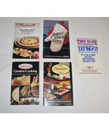 1980's Cooking Booklet/Cookbook Lot of 5-Assorted Illustrated Paperbacks - $44.99