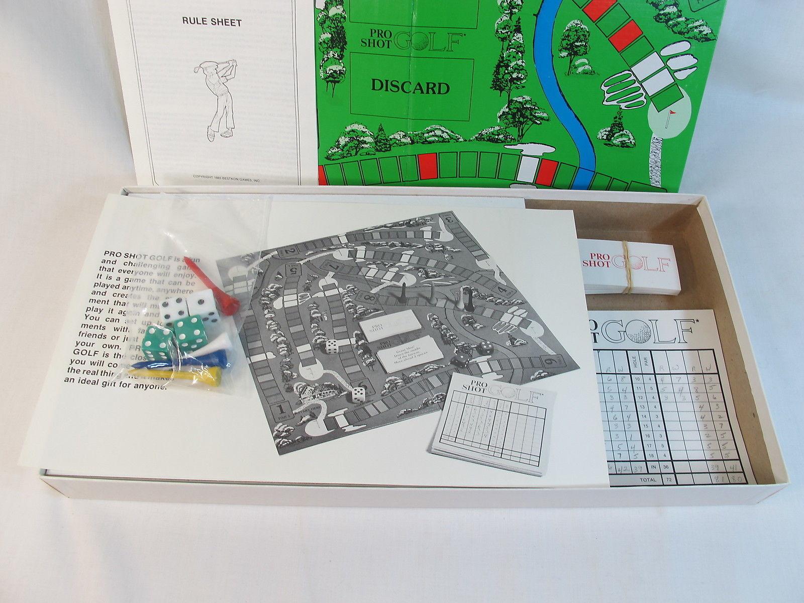 Pro Shot Golf 1985 Board Game Bestkon 100% Complete EUC Bilingual