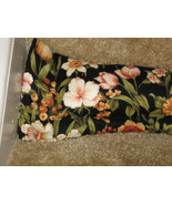 Floral on Black-Pre Filled-Breeze Blocker/Draft Stopper/Doorway Draft Do... - $19.95