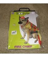 NIP-Fire Chief Dog Halloween Costume-Size Medium - $9.99